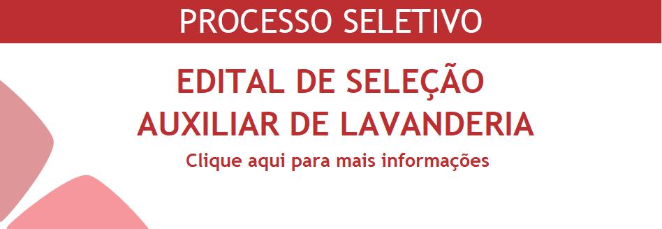 Processo Seletivo - Auxiliar de Lavanderia